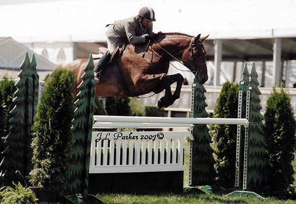 Christopher Ewing rides Renaissance at the 2007 Hampton Classic Horse