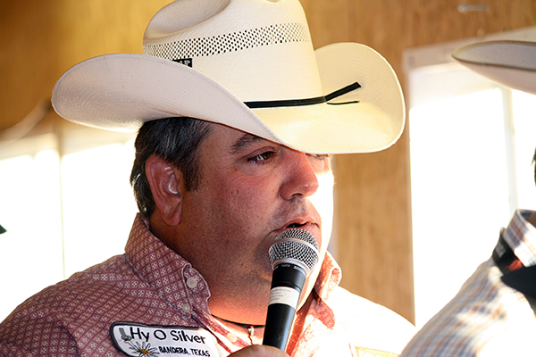Louisiana cowboy Andy Stewart has been recognized as one of the best announcers in ProRodeo. This is the eighth year he has announced the Weatherford, Texas, rodeo.