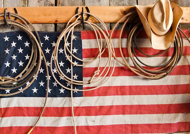 The freedoms we have came through the sacrifices of many, and we should be forever grateful that we have the opportunity to travel this great land in any way possible to participate in a big piece of Americana, the sport of rodeo. (PHOTO COURTESY OF THE JUSTIN BOOT CO.)