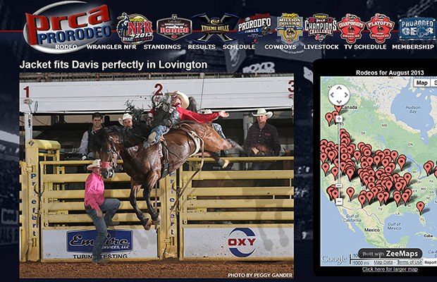 This is the screen shot from today's ProRodeo.com. For the eighth time in nine outs, Dirty Jacket has guided cowboys to at least a share of a round title. His most recent was Jessy Davis in Lovington, N.M.