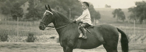 "A young C.T. Fuller, who later helped reining take off as owner of Willow Brook Farms, rides a horse, many years before becoming a hall-of-fame horse owner. Willow Brook Farms is being showcased on the next episode of ""The Ride with Cord McCoy,"" which airs 1 and 11 p.m. Eastern time Monday on RFD-TV. (PHOTO COURTESY WILLOW BROOK FARMS)"