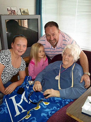 Laney, Channing and I huddle around Grandma Summers recently for this photo. I love how Channing is looking at Grandma. She's been blessed with Grandma's memory, so I hope it serves her as well. Grandma died Monday, Sept. 9, at 102.