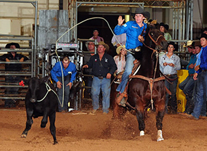 Hope Thompson ropes during the 2013 WPRA World Finals. She is the breakaway roping world champion. (WPRA PHOTO)