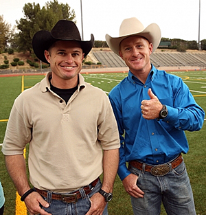 Jet, left, and Cord McCoy are part of Season 24 of 'The Amazing Race,' subtitled the All-Star Edition. This is the third time on the show for The Cowboys. (PHOTO COURTESY OF CBS-TV)