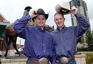 "Jet, left, and Cord McCoy have found a lot of fame on the CBS-TV reality series ""The Amazing Race,"" including their term a few years ago as grand marshals to the Calgary Stampede Parade a few years ago. The brothers are on the race for a third time, and during the Season 24 premier, won the opening leg of the race for $1 million."