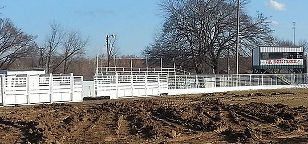 Volunteers with the Will Rogers Stampede PRCA Rodeo have been busy giving the arena a facelift in time for this year's rodeo. Fans will have a great seat for all the action.