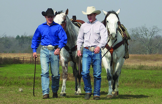 "Jet, left, and Cord McCoy have carried the Western lifestyle with them all three seasons of which they appeared on ""The Amazing Race."" CBS-TV now has the brothers as finalists for the CBS Fan Awards ""Dynamic Duo."" (PHOTO BY McCOY-CALLISON PHOTOGRAPHY)"