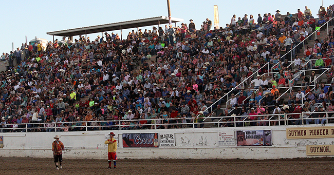 Crowds pack Henry C. Hitch Pioneer Arena for the annual Guymon Pioneer Days Rodeo, which will be inducted into the ProRodeo Hall of Fame this summer.