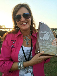 Susan Miller is one of numerous volunteers who help produce the annual Karl Klement Butterfield Stage Days PRCA Rodeo, set for May 8-9 in Bridgeport, Texas. (PERSONAL PHOTO)