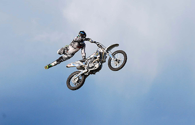 The members of Wisconsin Freestyle MotoCross will be part of the action during this year's Dodge City Roundup Rodeo, set for Wednesday, July 29-Sunday, Aug. 2, at Roundup Arena. (PHOTO COURTESY WIFMX)