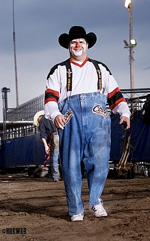 Rodeo clown Cody Sosebee returns to the American Royal PRCA Rodeo this year to be one of the featured entertainers. (TODD BREWER PHOTO)