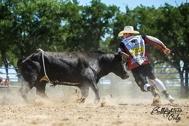 Nate Jestes makes a pass on a bull during a Bullfighters Only event. Jestes will be one of the featured bullfighters competing Sunday, June 19-Wednesday, June 22, in conjunction with the Reno (Nev.) Rodeo. (PHOTO COURTESY OF BULLFIGHTERS ONLY)
