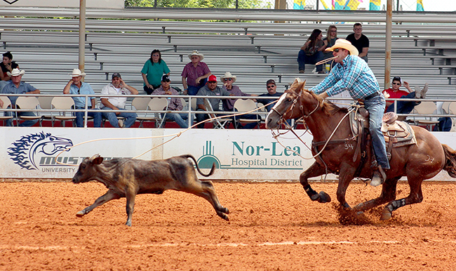 Tie-down roper Clint Cooper, who grew up in Lovington, N.M., competes during the 2015 Lea County Fair and Rodeo in his hometown. The rodeo has been recognized as one of the best in the PRCA.