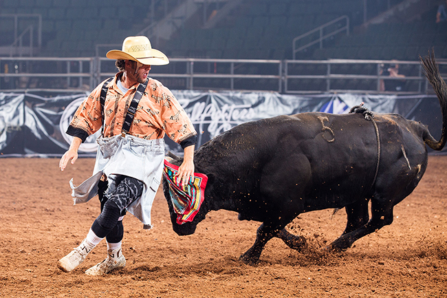 Beau Schueth will be one of nine men who will be part of the Bullfighters Only event that takes place next week in conjunction with Iowa's Championship Rodeo in Sidney. (TODD BREWER PHOTO)