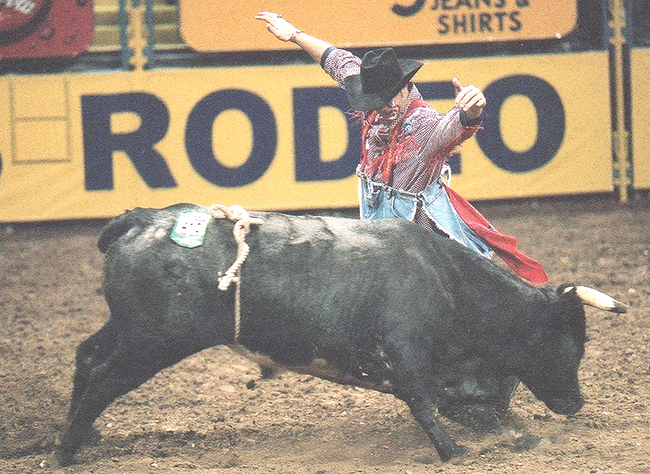 Lance Brittan was one of the last world champions on the original Wrangler Bullfighting Tour when he won the crown in 1999. The Wrangler Bullfights return through Bullfighters Only and will be tied to PRCA rodeos that will feature the BFO. (PHOTO COURTESY OF LANCE BRITTAN)