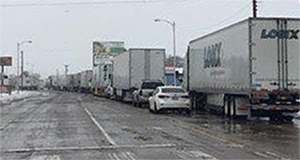 Traffic on westbound U.S. Highway 54 was backed up for a great distance.