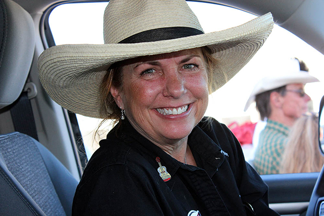 Amy Vigil is one of many longtime volunteers who help make the annual Rooftop Rodeo a big hit.