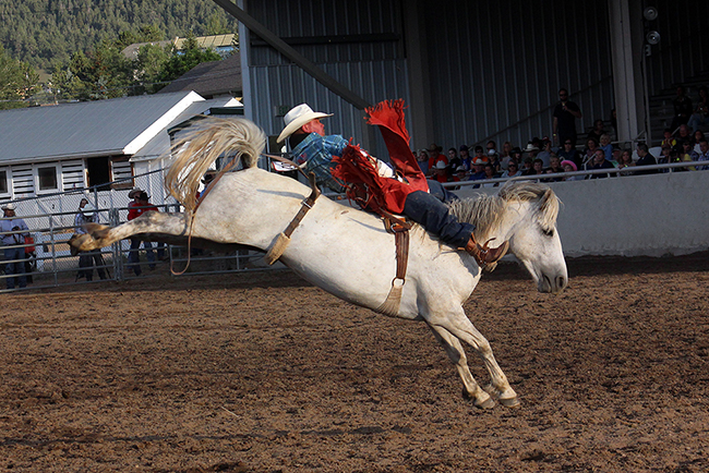 Bareback rider Tanner Phipps rides during the 2016 Rooftop Rodeo, which will begin at 7 p.m. this year.