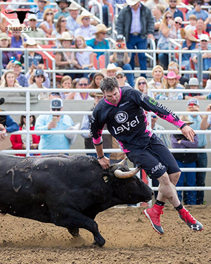 Toby Inman won three of four rounds at Bullfighters Only-Salinas this past weekend to take the overall title. (PHIL DOYLE PHOTO)