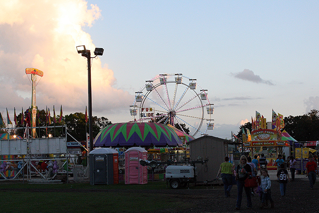 The carnival is just one of many attractions at the Waller County Fair and Rodeo, which begins in about a month.
