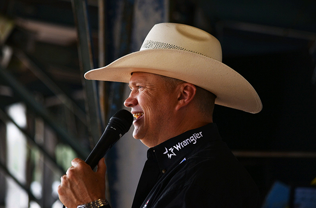 Greg Simas returns to Duncan, Okla., next month to call the action at the Chisholm Trail Ram Prairie Circuit Finals Rodeo for the second year in a row. (PHOTO COURTESY OF GREG SIMAS)