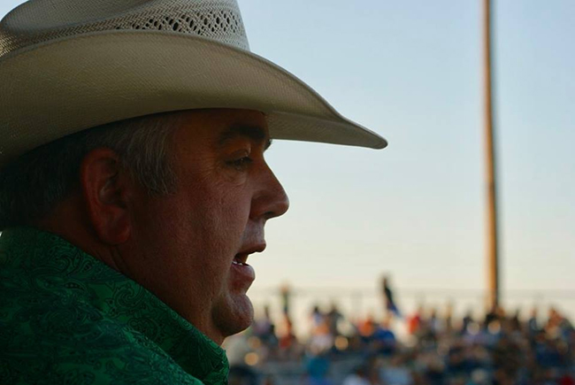 Andy Stewart will be the arena voice at Claremore's Extreme Roughstock when it takes place Nov. 4 in Claremore, Okla.