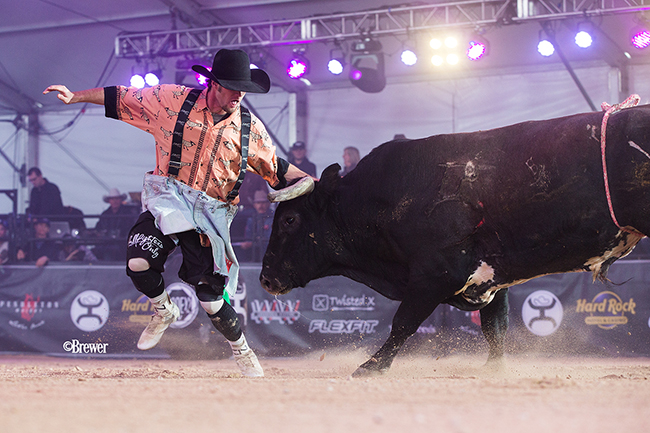 After five months on the injured list, Beau Schueth returns to Bullfighters Only action Thursday in Scottsdale, Ariz. He will be in the mix with Kris Furr and Noah Krepps. (TODD BREWER PHOTO)