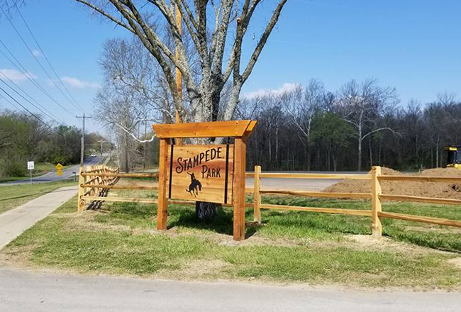 A new entrance is one of many changes going on at Stampede Park in Claremore, Okla., as the community prepares for the annual Will Rogers Stampede PRCA Rodeo. (COURTESY PHOTO)