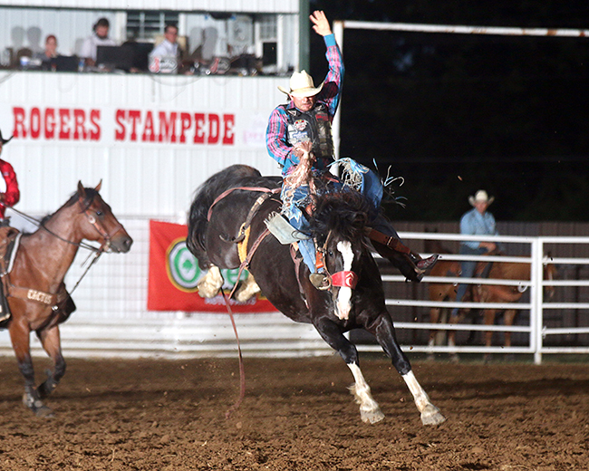 Claremore's Extreme Roughstock will feature all three rodeo roughstock events, bareback riding, saddle bronc riding and bull riding. The competition takes place Saturday at the Claremore Expo Center. (PHOTO BY PEGGY GANDER)