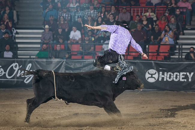 Kris Furr is utilizing his victory last week in Reno, Nev., as momentum as he heads to the Bullfighters Only Wrangler Bullfight Tour stop at the Cody (Wyo.) Stampede this weekend. (TODD BREWER PHOTO)
