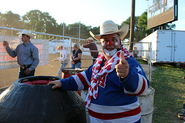 Rodeo clown Cody Sosebee returns to Dodge City Roundup Rodeo this August to help entertain fans who attend the ProRodeo Hall of Fame event.