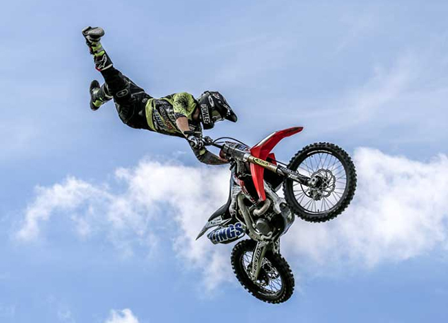WI-FMX will be returning to Dodge City Roundup Rodeo with its high-flying motocross action during each performance of the award-winning rodeo. (PHOTO COURTESY OF WI-FMX)