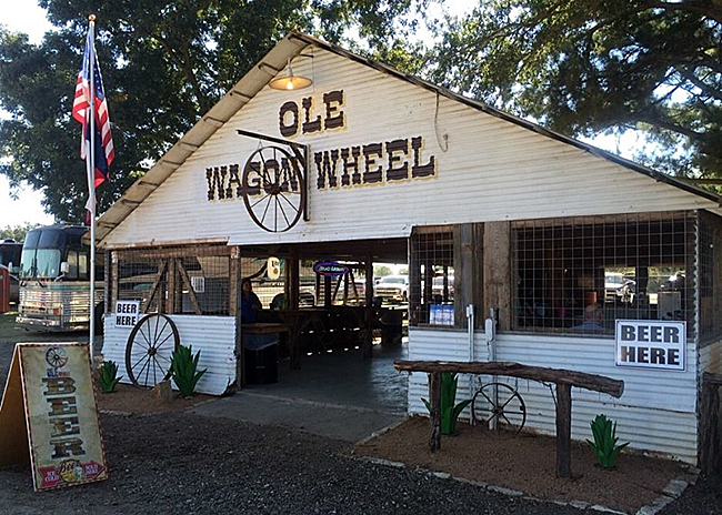 One of the original buildings at the Waller County Fairgrounds, the remade Wagon Wheel has become the perfect place to relax for those attending the Waller County Fair and Rodeo in October.