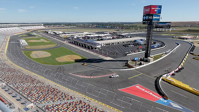 Charlotte Motor Speedway will not only host the Bank of America ROVAL 400 on Sunday, it also will be home to the men of Bullfighters Only in a first-of-its-kind collaboration with Speedway Motorsports to bring the two extreme sports together.